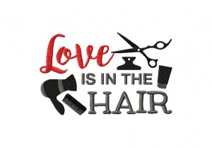 Red Love is in the hair